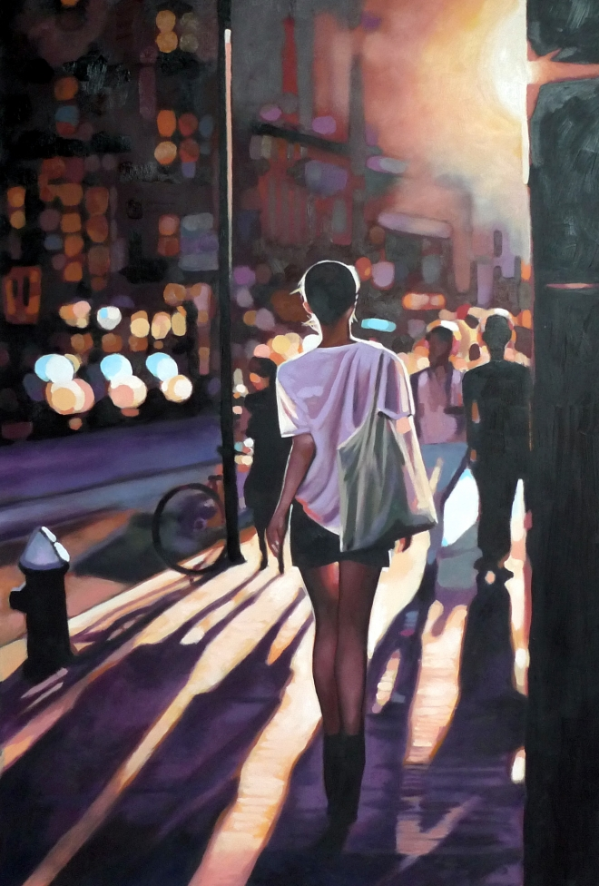 Painting by Thomas Sailot via http://www.thomassaliot.com/?gallery=street-light